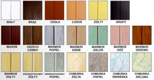 Panele-PCV kolory